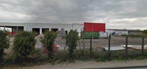 Batîment de la nouvelle agence Loxam en Construction (vue depuis la rue de l'Ormeteau à Saran)