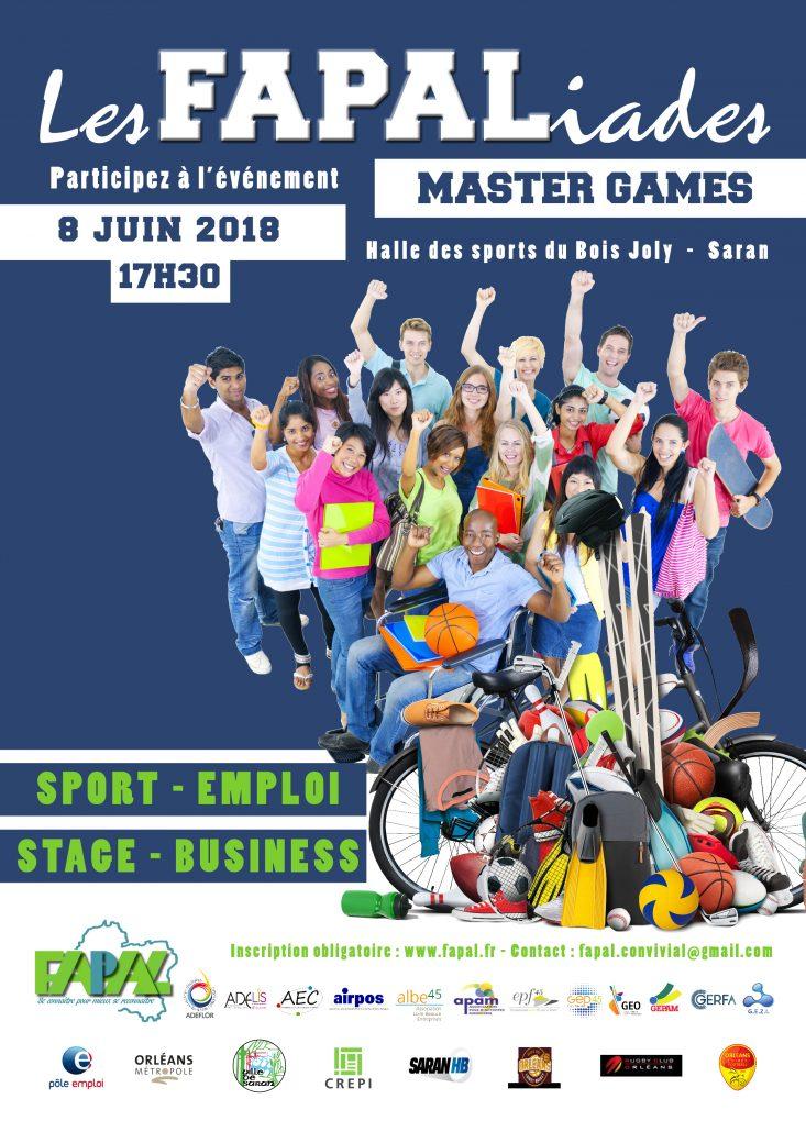 Participez aux FAPALIADES Master Games, le 8 juin à Saran
