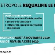 Les travaux de requalification du Nord de la RD 2020, entre le giratoire des cinémas Pathé à Saran et le Chapit'O à Fleury les Aubrais, démarrent le 12 aout.